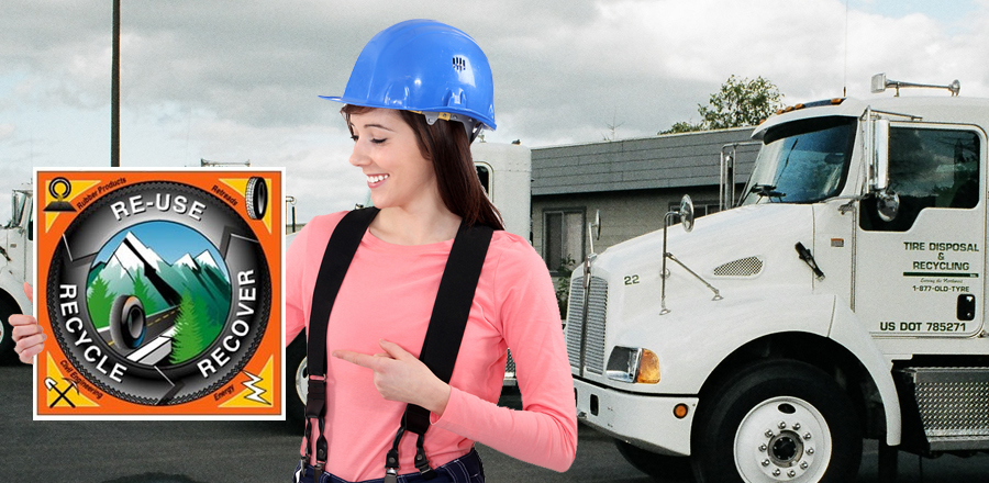 Waste Tire drop-off sites in Portland and Prineville, Oregon and Stockton, California,