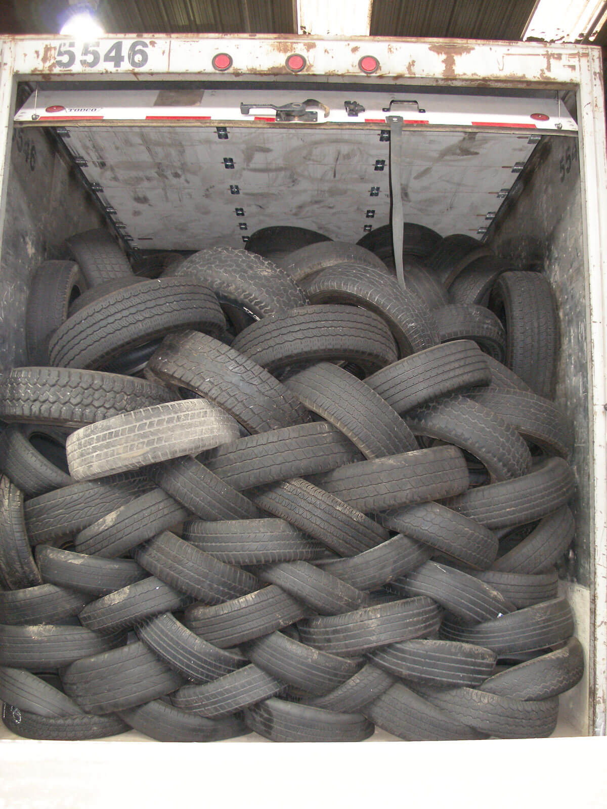 Laced Tires In Trailer