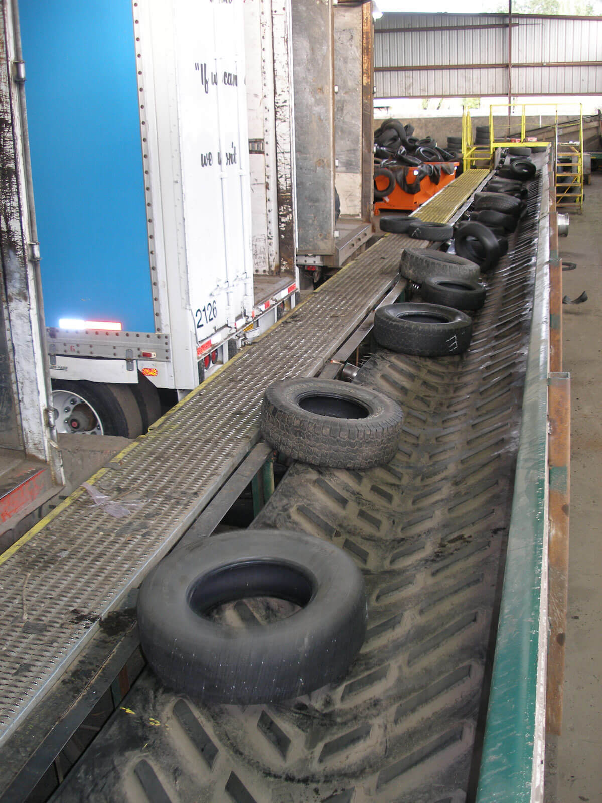 Portland Plant Tire Receiving