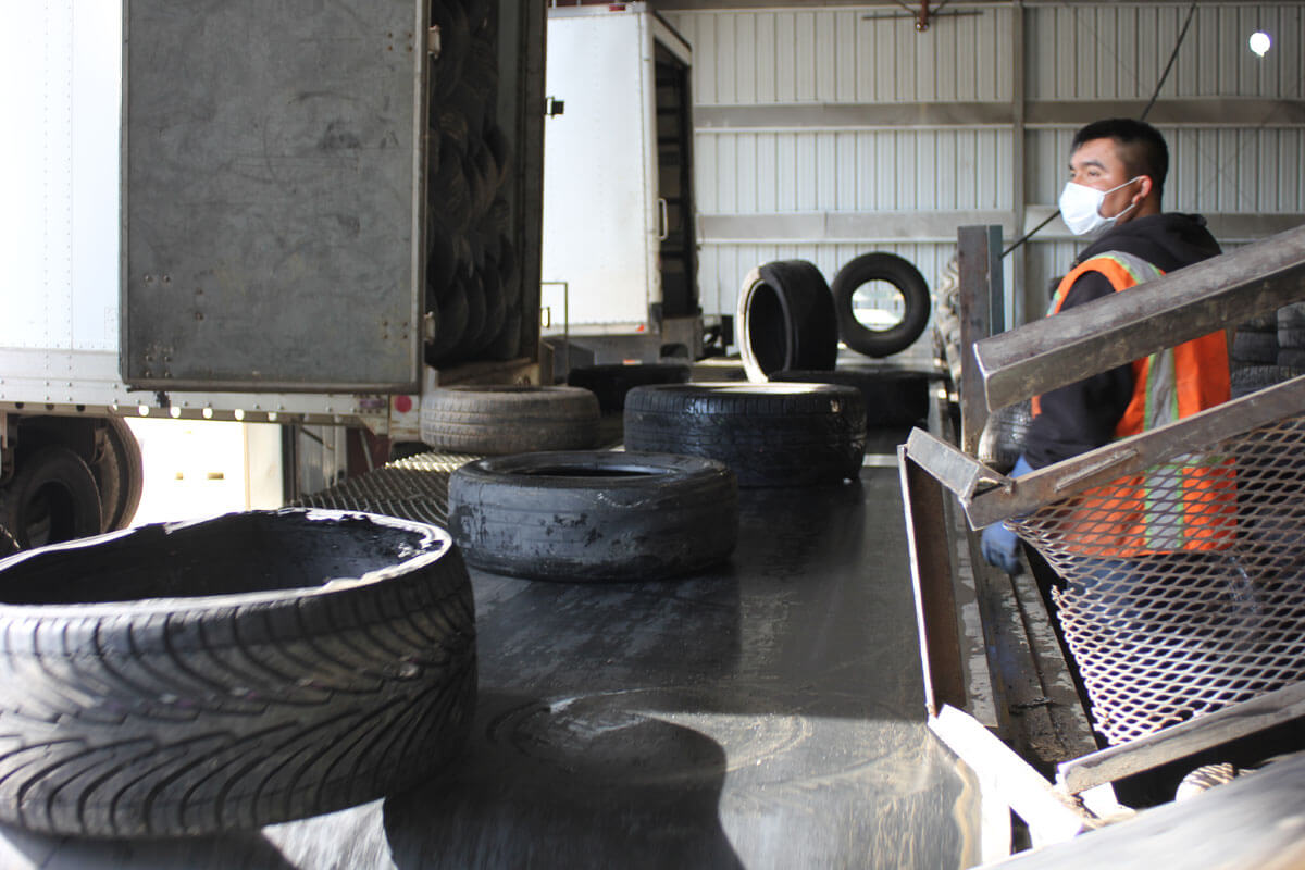 Tires Receiving / Process Line